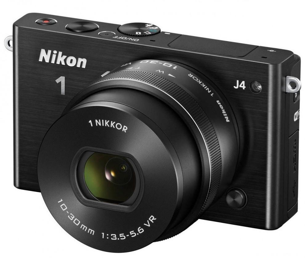Kompakt s výměnným objektivem Nikon 1 J4 + Objektiv VR 10-30mm Black
