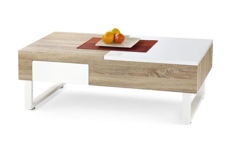Konfereční stolek - dřevěný Alabama(dub sonoma/ bílá)