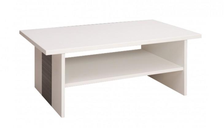 Konfereční stolek - dřevěný Bori (Bílá arctic/Grafit)