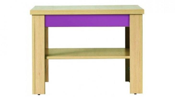 Konfereční stolek - dřevěný Codi CD 1 (višeň cornvall/fialová)
