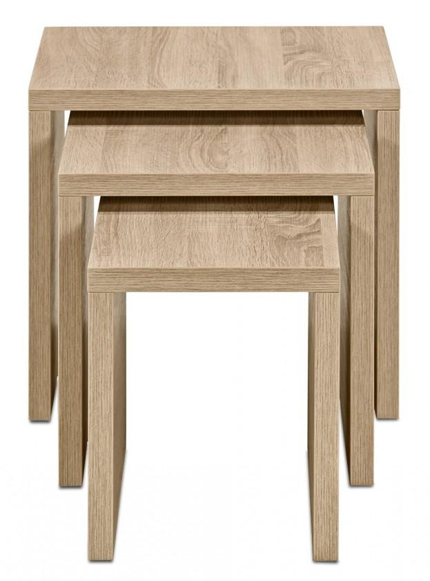Konfereční stolek - dřevěný Cool - Konferenční stolek 3ks sada (dub HN)
