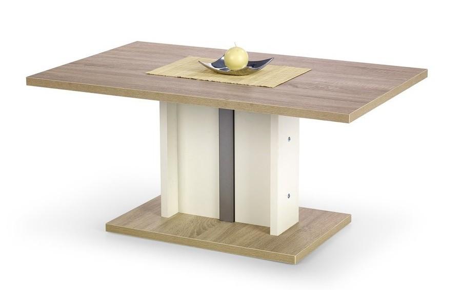 Konfereční stolek - dřevěný Cyprian(dub sonoma/ bílá)