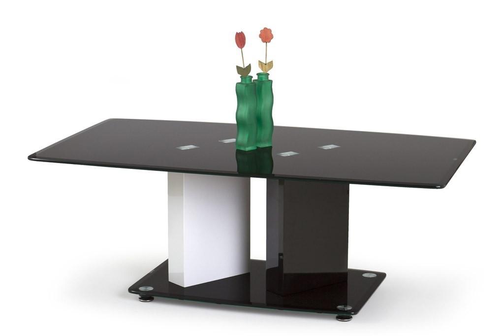 Konfereční stolek - dřevěný Debra(bílá/ černá)