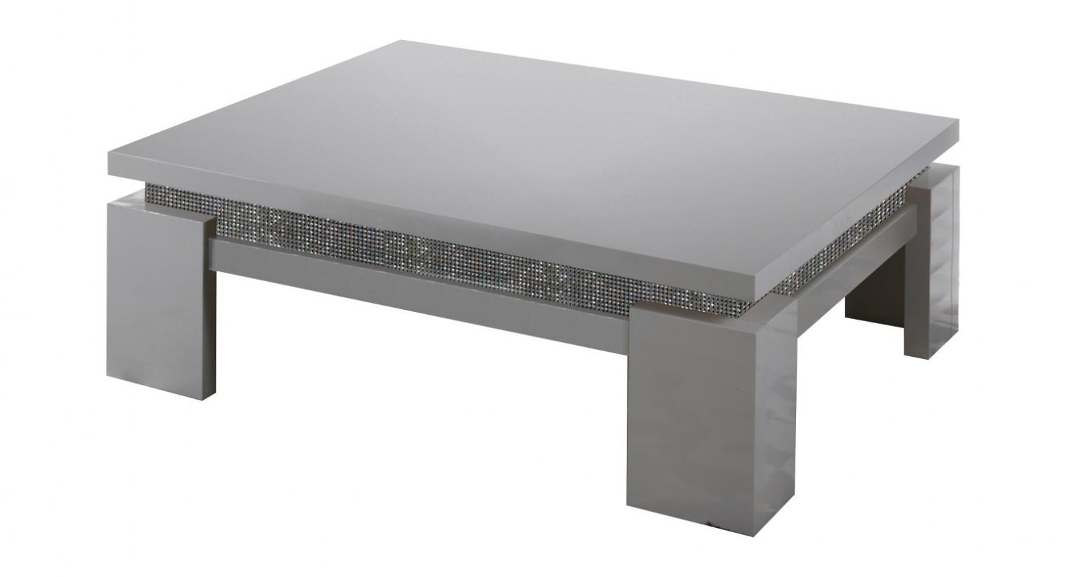 Konfereční stolek - dřevěný Diva - Konferenční stolek, 4x nožičky (bílá/diamant)