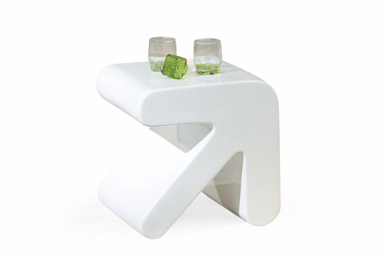 Konfereční stolek - dřevěný Erati - Konferenční stolek (bílá)