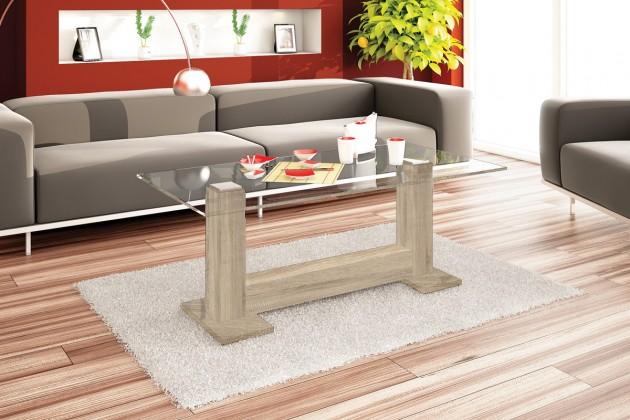 Konfereční stolek - dřevěný Eter (dub sonoma)