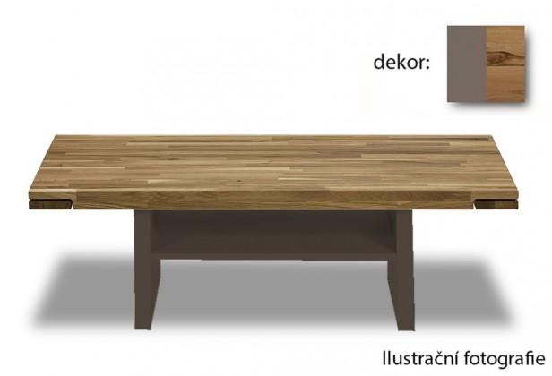 Konfereční stolek - dřevěný Feel - Konferenční stolek s dřevěnou deskou (divoký buk/cubanit)
