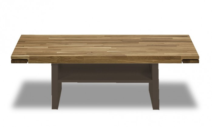Konfereční stolek - dřevěný Feel - Konferenční stolek s dřevěnou deskou (dub/cubanit)
