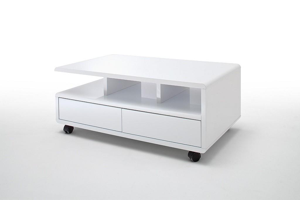 Konfereční stolek - dřevěný Konferenční stolek Alkes (bílá)
