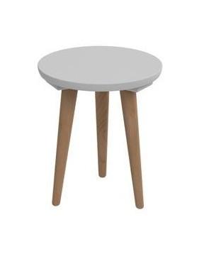 Konfereční stolek - dřevěný Konferenční stolek Bergen - malý (šedá deska/dub nohy)