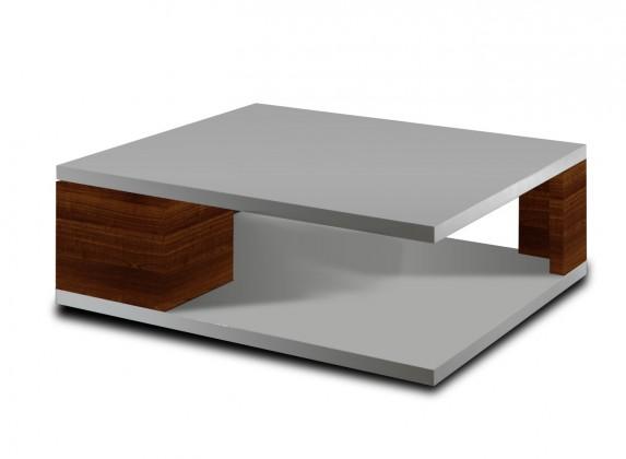 Konfereční stolek - dřevěný Konferenční stolek Diva (bílá/ořech)