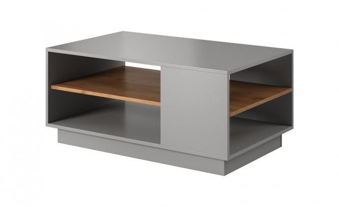 Konfereční stolek - dřevěný Konferenční stolek Duras (1 police, lamino, šedá/hnědá)