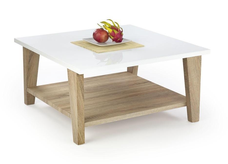 Konfereční stolek - dřevěný Konferenční stolek Kiana (bílá/ dub sonoma)