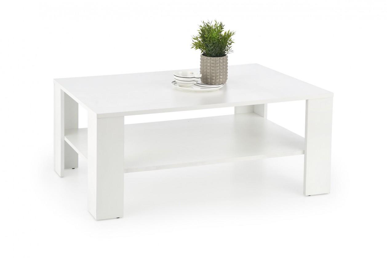 Konfereční stolek - dřevěný Konferenční stolek Kwadro (bílá)