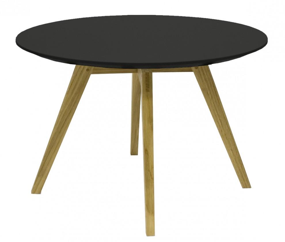 Konfereční stolek - dřevěný Konferenční stolek Lola Bess - černá, dub (9317-054+9366-024)