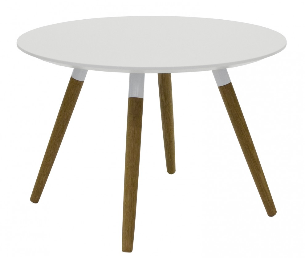 Konfereční stolek - dřevěný Konferenční stolek Lola Fido (bílá, dub)