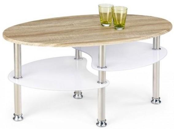 Konfereční stolek - dřevěný Konferenční stolek Medea (dub sonoma / extra bílá)