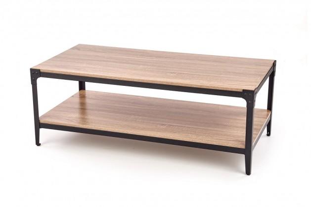 Konfereční stolek - dřevěný Konferenční stolek Monta (police, dub, černá)