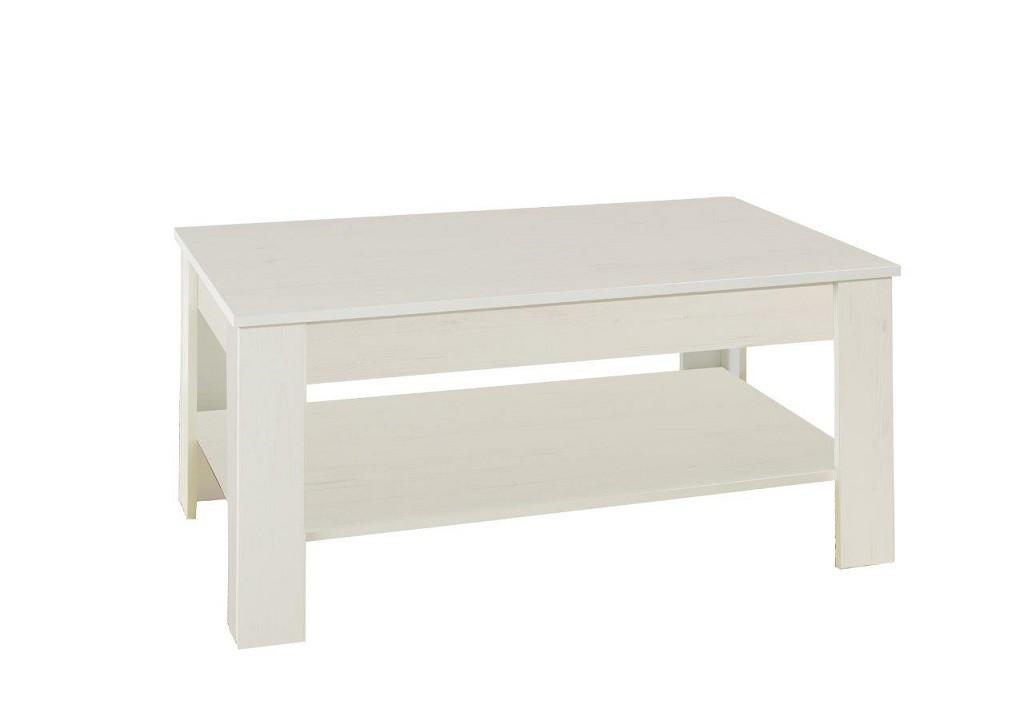 Konfereční stolek - dřevěný Konferenční stolek Nive - obdélník (alpská bílá)