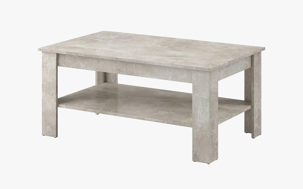 Konfereční stolek - dřevěný Konferenční stolek Nive - obdélník (beton jasný)