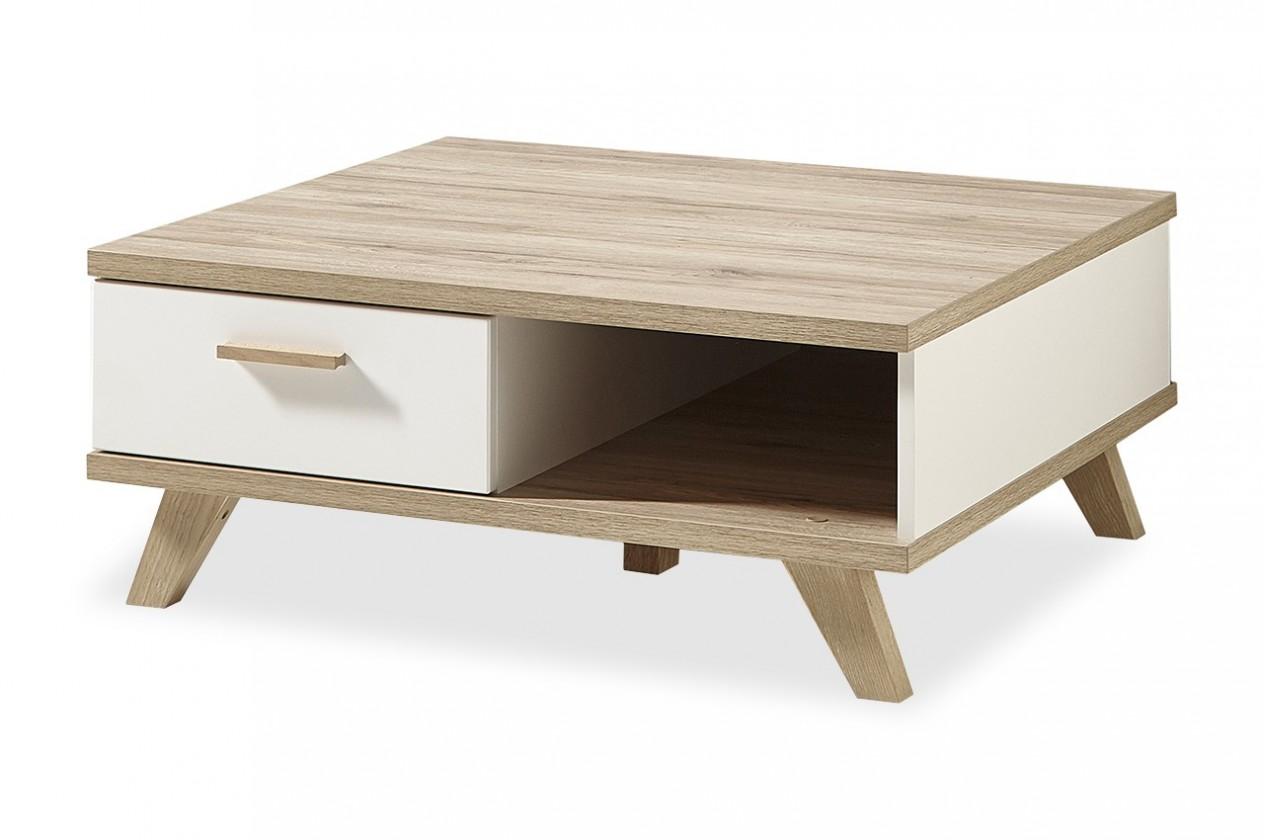 Konfereční stolek - dřevěný Konferenční stolek Oslo - 2292-221 (bílá,dub sanremo)