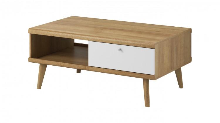 Konfereční stolek - dřevěný Konferenční stolek Primo (dub riviera, bílá)