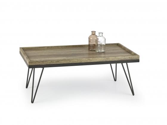 Konfereční stolek - dřevěný Konferenční stolek Silvia (dub žíhaný/černá)