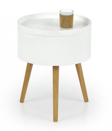 Konfereční stolek - dřevěný Konferenční stolek Supra (bílá, dub sonoma)