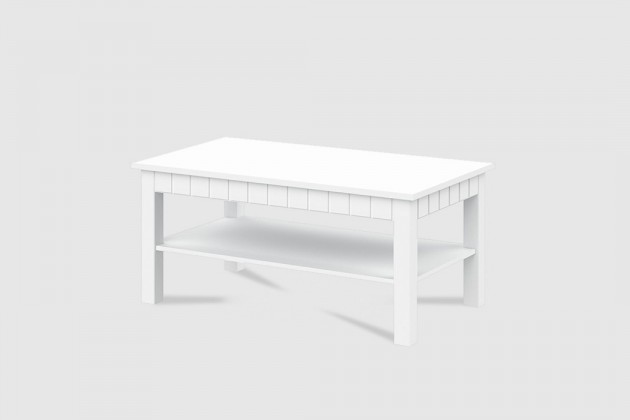 Konfereční stolek - dřevěný Konferenční stolek Tampere - Typ 45 (bílá arctic)