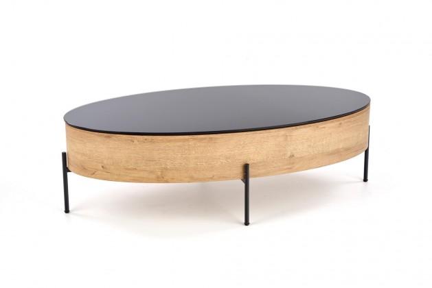Konfereční stolek - dřevěný Konferenční stolek Wald (dub, černá)