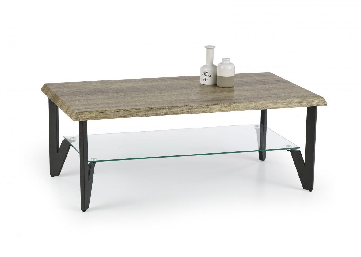 Konfereční stolek - dřevěný Konferenční stolek Xena (dub žíhaný/černá)