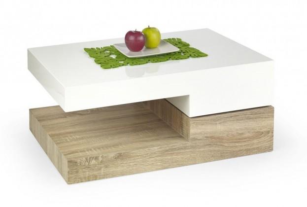 Konfereční stolek - dřevěný Liguria(bílá/ dub sonoma)