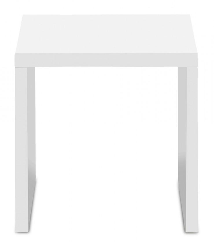 Konfereční stolek - dřevěný Linea - konferenční stolek, 40 cm (bílá)