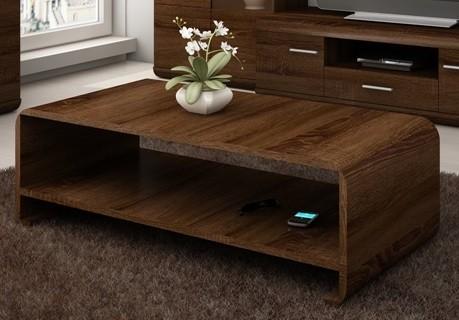 Konfereční stolek - dřevěný Link - Konferenční stolek (dub chocolate)
