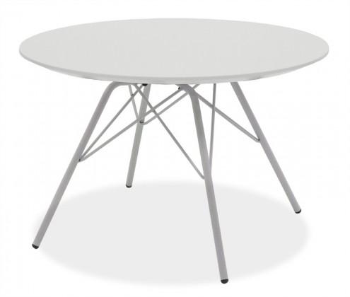 Konfereční stolek - dřevěný LOLA 9306-001+PORGY 9316-091 (bílá,chrom)
