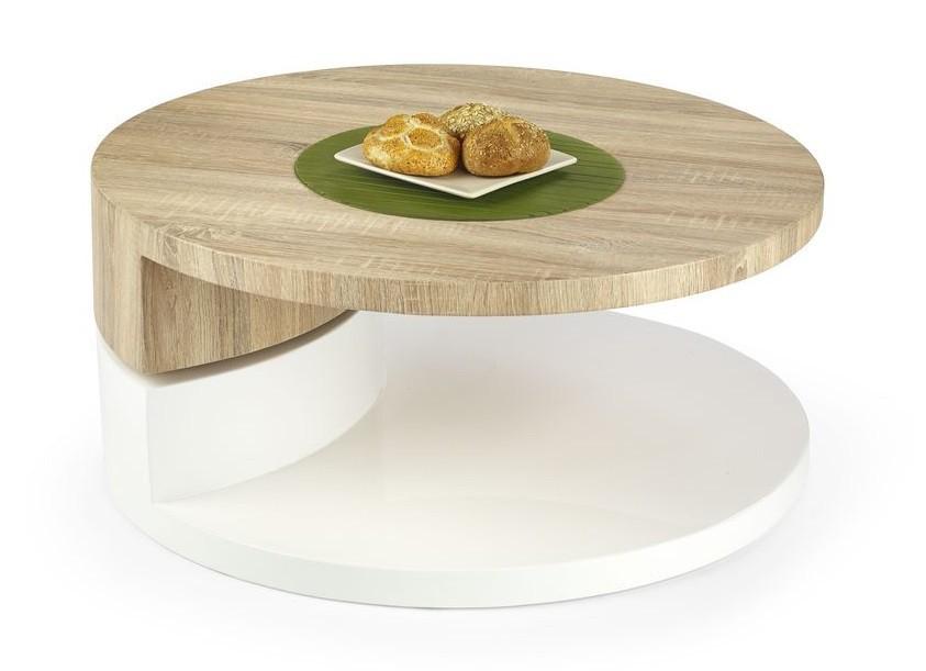 Konfereční stolek - dřevěný Madeleine(dub sonoma/bílá)