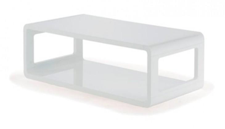 Konfereční stolek - dřevěný Madison (bílá)