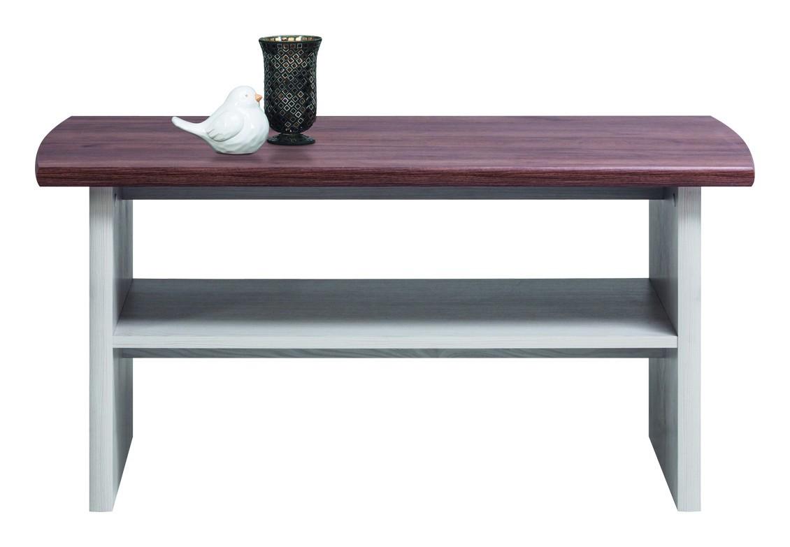 Konfereční stolek - dřevěný Moon - Konferenční stůl  (modřín sibiřský, dub)