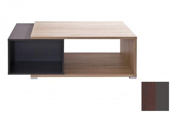 Konfereční stolek - dřevěný Preto (Dub tmavý/Grafit)