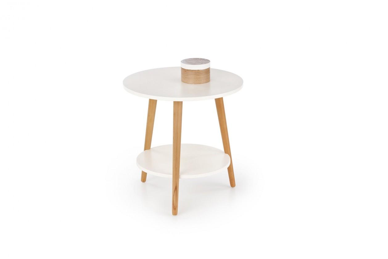 Konfereční stolek - dřevěný Přístavný stolek Sago (bílá)
