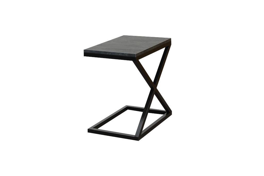 Konfereční stolek - dřevěný Přístavný stolek ST202009 mramor uhelný / černá
