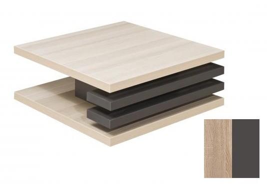 Konfereční stolek - dřevěný Rail 2 (Bardolino/Grafit)
