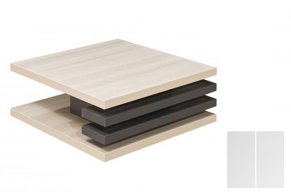 Konfereční stolek - dřevěný Rail 2 (Bílá arctic/Bílá arctic)