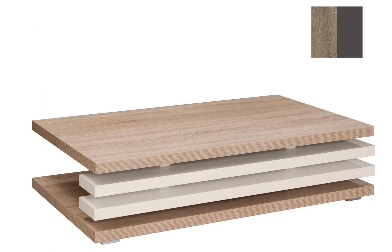 Konfereční stolek - dřevěný Rail(dub truffel/grafit)