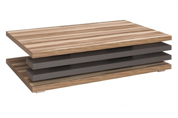 Konfereční stolek - dřevěný Rail (Ořech Baltimore/Grafit)