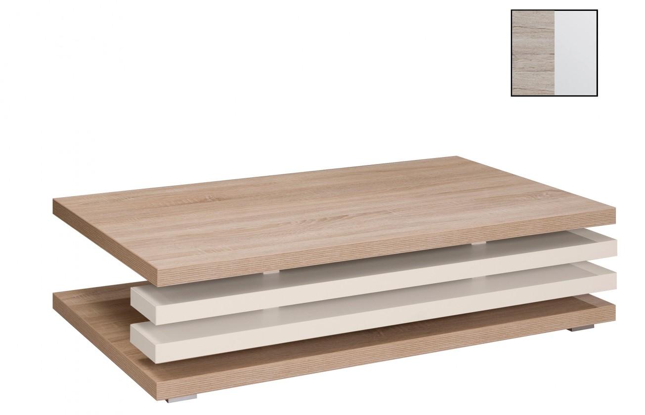 Konfereční stolek - dřevěný Rail(san remo sand/bílá arctic)