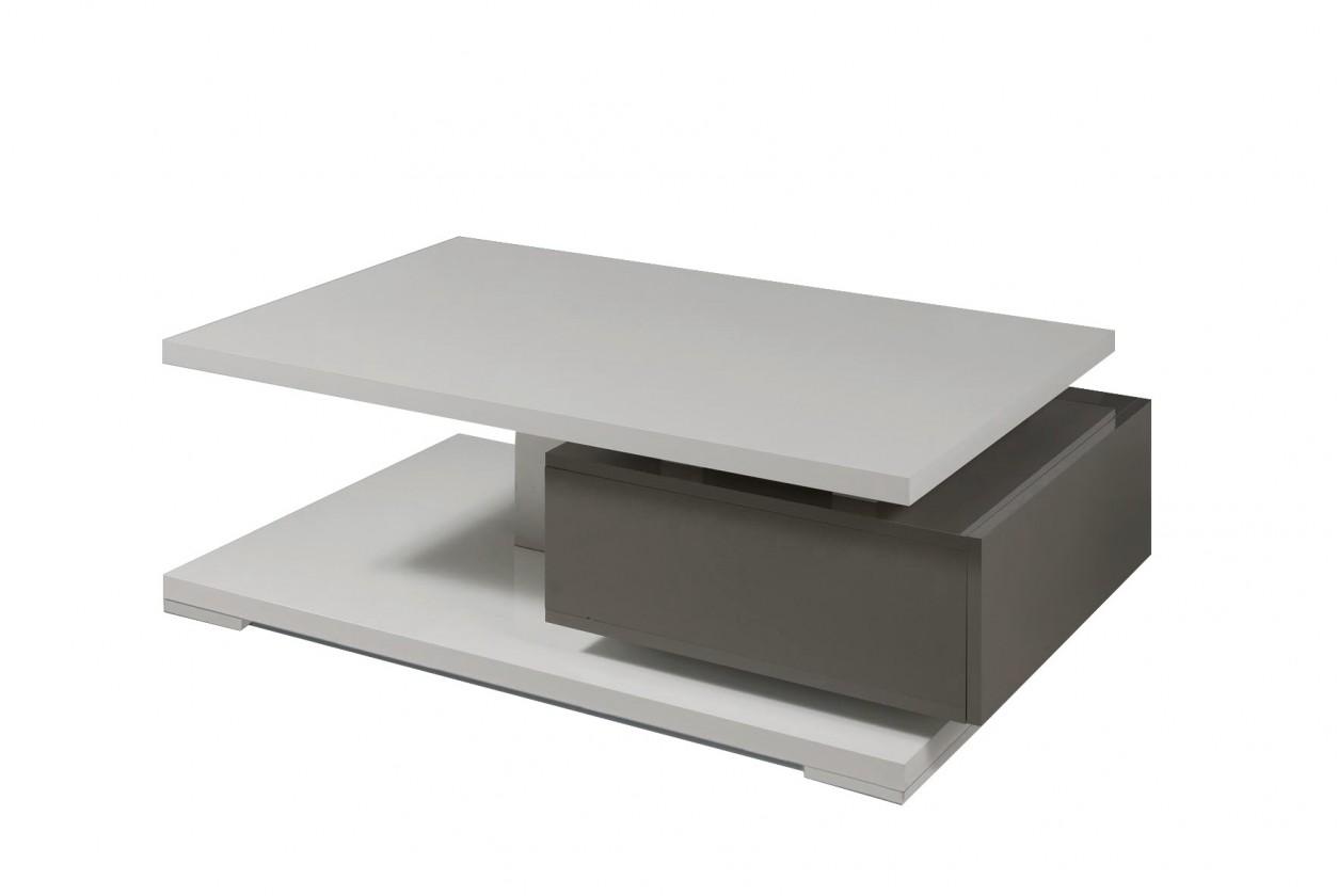 Konfereční stolek - dřevěný Rimini - Konferenční stolek (tmavě šedá/šedá)