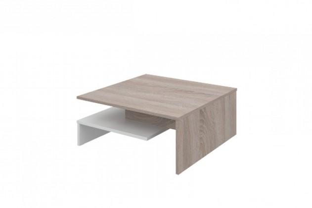 Konfereční stolek - dřevěný Selar II(dub bardolino/bílá arctic)