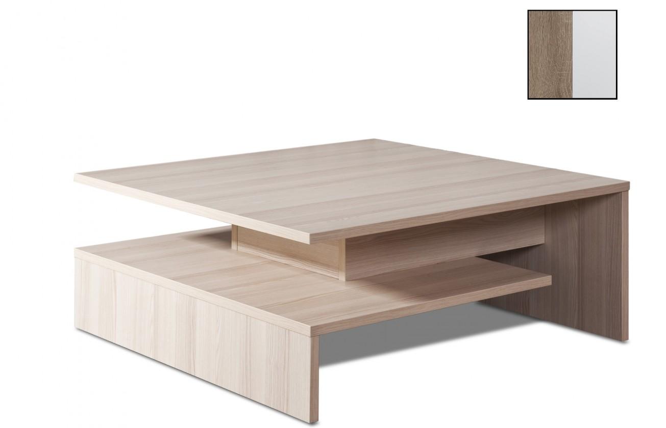 Konfereční stolek - dřevěný Selar II(dub truffel/bílá arctic)
