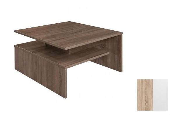 Konfereční stolek - dřevěný Selar III (Bardolino/Bílá arctic)